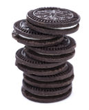 Cream Cookies isolated on white Stock Image