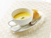 Cream of corn soup Stock Photo