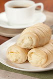 CREAM CORNET BREAD Stock Photography