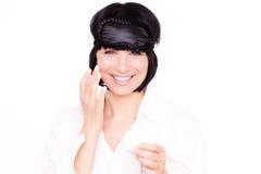 Cream cosmetic female Stock Images