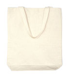 Cream cotton eco bag Royalty Free Stock Photos