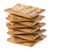 Cream Cracker Biscuits Royalty Free Stock Photos