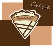 Cream crepe. A crepe filled with cream and chocolate Royalty Free Stock Photos