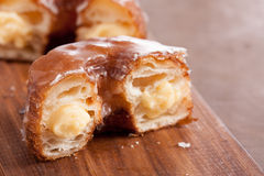 Cream croissant and doughnut mixture Stock Photos