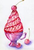Cream in cup Stock Photos