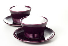 Cream cups Stock Photography
