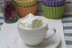 Cream curd Stock Photos