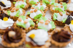 Cream dessert Stock Photos