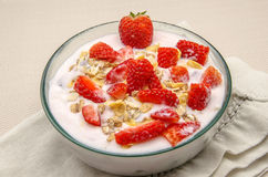 Cream dessert yogurt Royalty Free Stock Images