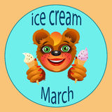 Cream dipper March Royalty Free Stock Image