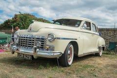 A cream Dodge Coronet Classic car Stock Images