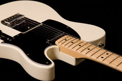 Cream Electric Telecaster Guitar Royalty Free Stock Photos