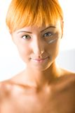 Cream on face Stock Images
