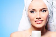 Cream face Stock Images