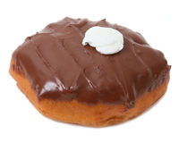 Cream Filled Chocolate Donut Stock Photography