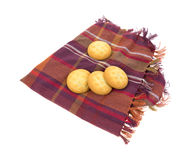 Cream Filled Cookies on Napkin Royalty Free Stock Photos