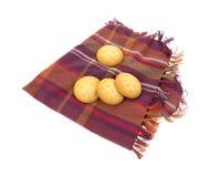 Cream Filled Cookies on Napkin Royalty Free Stock Photos