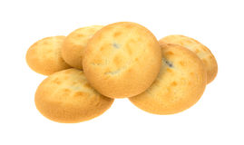 Cream Filled Cookies on White Stock Image