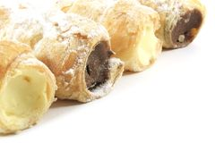 Cream Filled Horn Pastries royalty free stock images
