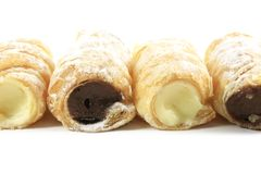 Cream Filled Horn Pastries Royalty Free Stock Photos