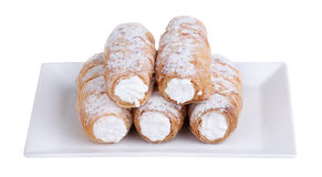 Cream-filled pastry roll Royalty Free Stock Photo