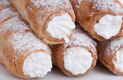 Cream-filled pastry roll Royalty Free Stock Photography