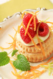 Cream filled puff pastry shell Royalty Free Stock Photo