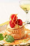 Cream filled puff pastry shell Royalty Free Stock Photography