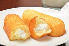 Cream filled sponge cakes Royalty Free Stock Image