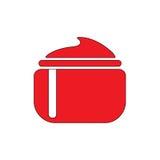 Cream flat icon. Cream, red icon flat illustration EPS 10 Stock Photography