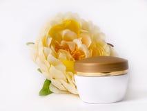 Cream and flower Stock Photo