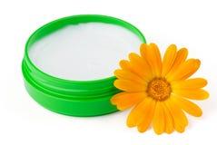 Cream with flower Stock Photo