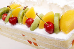 Cream fruit cake Royalty Free Stock Images