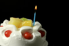 Cream fruit cake Royalty Free Stock Photos