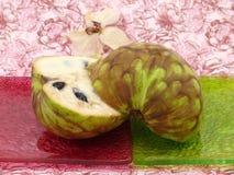 Cream fruit Cherimoya on background Royalty Free Stock Photography