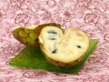 Cream fruit Cherimoya on background Stock Images