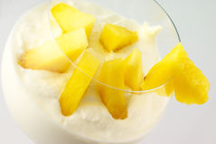 Cream with fruits Royalty Free Stock Photos