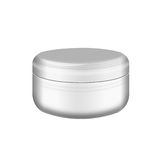 Cream,  Gel  Or  Powder, Light Gray, White, Jar Can Cap Bottle,isol Royalty Free Stock Photo