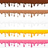 Cream glaze blots and splash Stock Images