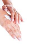 Cream for hand care Stock Photo