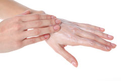 Cream hands Stock Photos