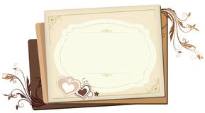 Cream hearts Royalty Free Stock Image