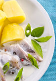 Cream herring Royalty Free Stock Image