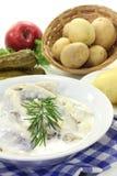 Cream herring Royalty Free Stock Photo