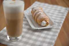 Cream horn pastries Royalty Free Stock Image