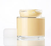 Cream in the jar Royalty Free Stock Photo