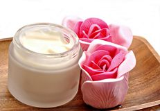 Cream jar Royalty Free Stock Photography