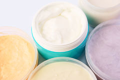 Cream jars Royalty Free Stock Photography