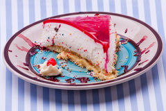 Cream and jello tart Royalty Free Stock Photography