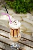 Cream latte Royalty Free Stock Image